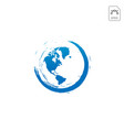 world earth globe nature logo icon isolated vector image vector image