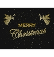 Merry christmas happy new year holiday vector image
