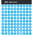 100 bank icons vector image vector image