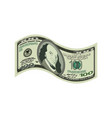 100 dollar isolated usa money on white background vector image vector image