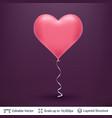3d heart shaped air balloon vector image