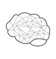 abstract human head icon vector image