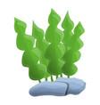 aquarium leaf plant icon cartoon style vector image vector image