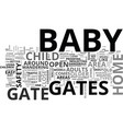 baby gates help to child proof your home text vector image vector image