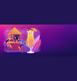 beach bar concept banner header vector image vector image