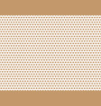 beige heart shape pattern vector image vector image