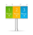 billboard screen template123 concept vector image vector image