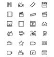 cinema line icons 3 vector image