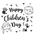 collection children day hand draw vector image vector image