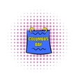 Columbus day calendar icon comics style vector image vector image