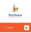 creative drinks logo design flat color logo place vector image