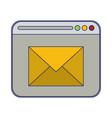email sending website symbol blue lines vector image vector image