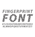 fingerprint font set vector image vector image