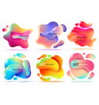 fluid shape banners liquid shapes abstract color vector image