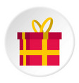 gift in a box icon circle vector image vector image