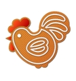 Gingerbread cock or rooster - symbol of New Year vector image vector image