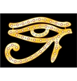 Gold eye of Horus vector image