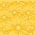 gold flower background vector image vector image