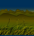 green steppe grass vector image