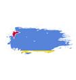 grunge brush stroke with aruba national flag vector image vector image