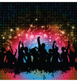 grunge party background vector image vector image