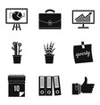 home work icons set simple style vector image vector image