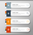 infographic design and marketing icons vector image vector image