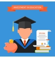 Invest in education concept vector image vector image