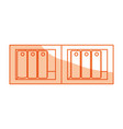 isolated documents folder library vector image