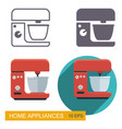 kitchen mixer icons vector image