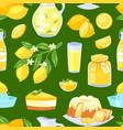 lemon food lemony yellow citrus fruit and vector image vector image