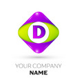 letter d logo symbol in colorful rhombus vector image vector image