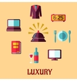 Luxury hotel flat concept vector image vector image