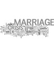 marriage crisis text background word cloud concept vector image vector image