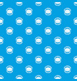 meat burger pattern seamless blue vector image vector image
