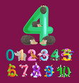 ordinal number 4 for teaching children counting vector image vector image