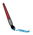paint brush isolated icon vector image vector image