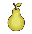 pear fresh fruit icon vector image vector image
