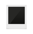polaroid frame photo vector image vector image