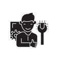professional service black concept icon vector image