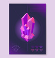 purple diamond shape on abstract background poster vector image vector image