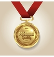 Quality Guarranteed Medal vector image