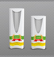 realistic pasta packages transparent background vector image vector image