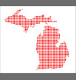red dot map of michigan vector image