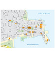 road map of the old city of panama city panama vector image vector image