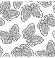 seamless pattern with butterflies stylised moth vector image vector image