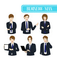 set business man vector image vector image