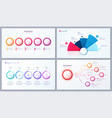 set of 5 options infographic designs vector image vector image