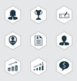 set of 9 human resources icons includes manager vector image vector image