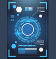 set of modern futuristic infographic elements vector image vector image